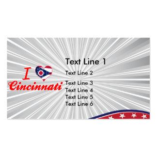 I Love Cincinnati, Ohio Business Card Template