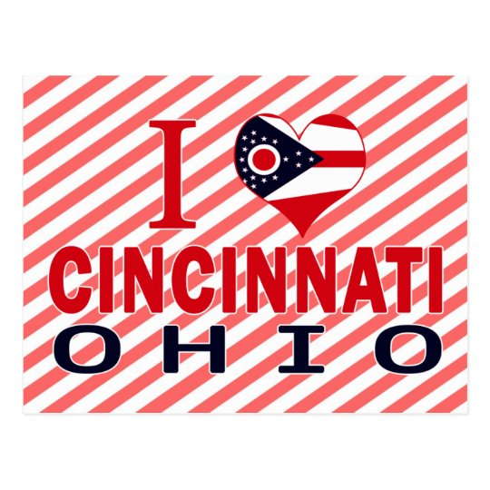 I love Cincinnati, Ohio Postcard