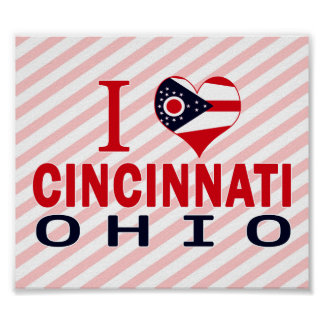 I love Cincinnati, Ohio Poster