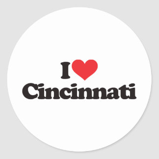 I Love Cincinnati Sticker