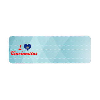 I Love Cincinnatus, New York Return Address Label