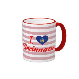 I Love Cincinnatus, New York Ringer Coffee Mug