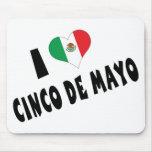 I Love Cinco de Mayo Mouse Pads