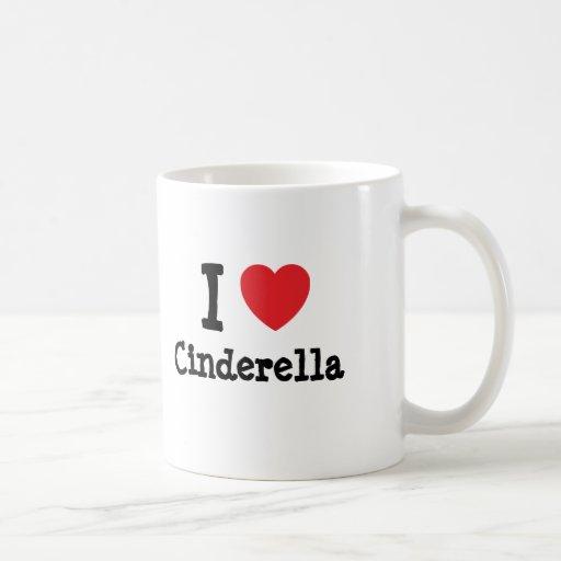 I love Cinderella heart T-Shirt Mugs