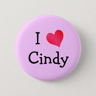 I Love Cindy Pinback Button