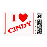 I Love Cindy Stamps