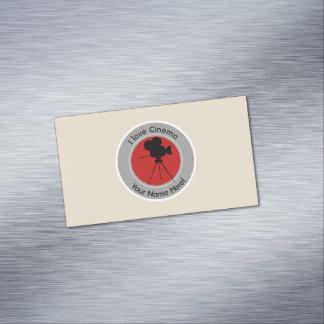 I love Cinema Business Card Magnet