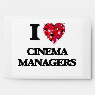 I love Cinema Managers Envelope