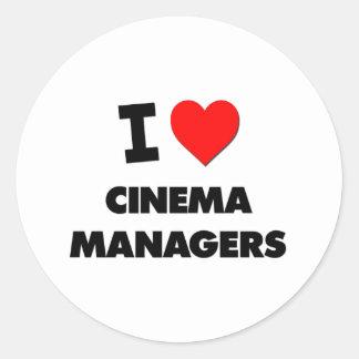 I Love Cinema Managers Sticker