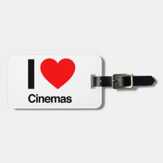 i love cinemas bag tags