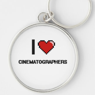 I love Cinematographers Silver-Colored Round Keychain