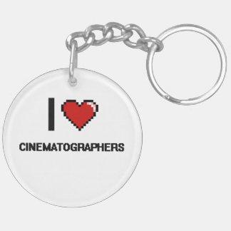 I love Cinematographers Double-Sided Round Acrylic Keychain