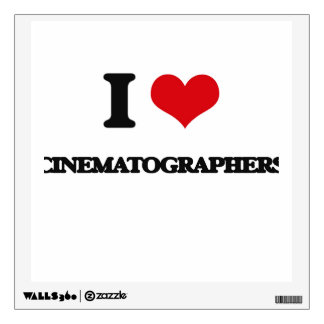 I love Cinematographers Wall Stickers