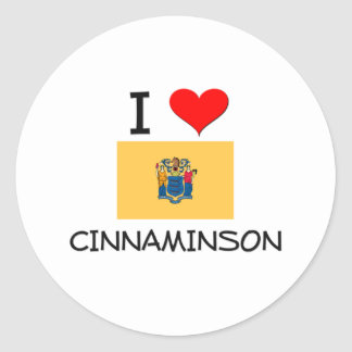 I Love Cinnaminson New Jersey Stickers