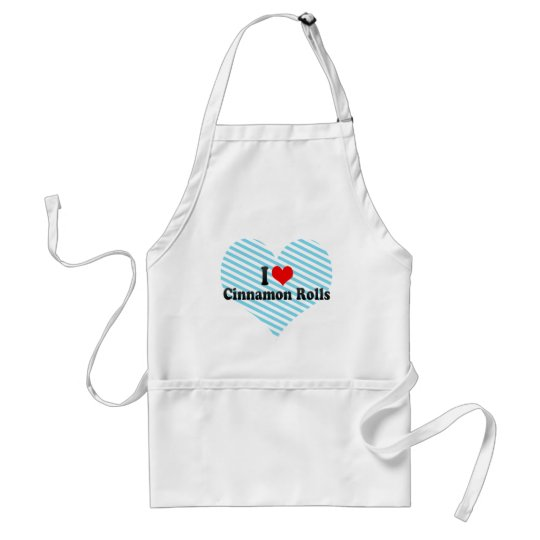 I Love Cinnamon Rolls Adult Apron