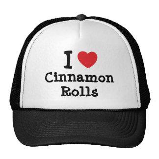 I love Cinnamon Rolls heart T-Shirt Trucker Hat
