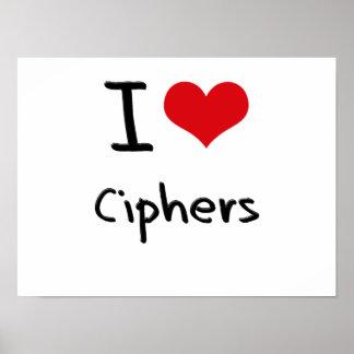 I love Ciphers Print