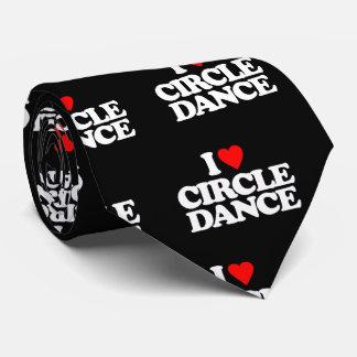 I LOVE CIRCLE DANCE NECK TIE