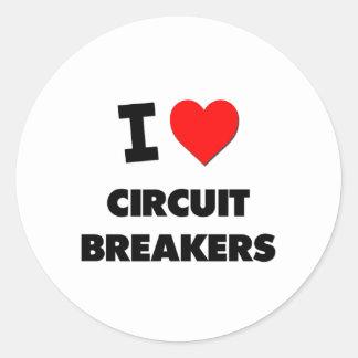 I love Circuit Breakers Round Stickers