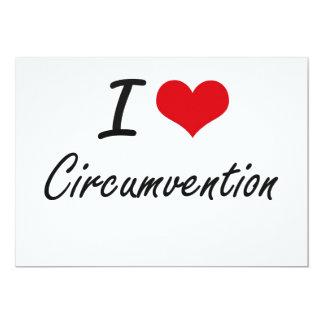 I love Circumvention Artistic Design 5x7 Paper Invitation Card