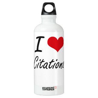 I love Citations Artistic Design SIGG Traveler 0.6L Water Bottle