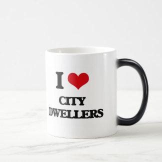 I Love City Dwellers 11 Oz Magic Heat Color-Changing Coffee Mug