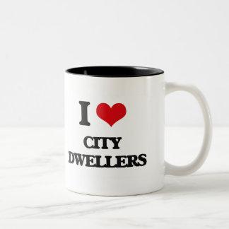 I Love City Dwellers Two-Tone Coffee Mug