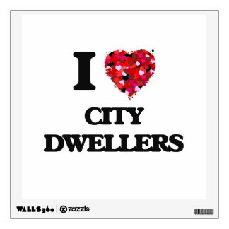 I Love City Dwellers Wall Decal