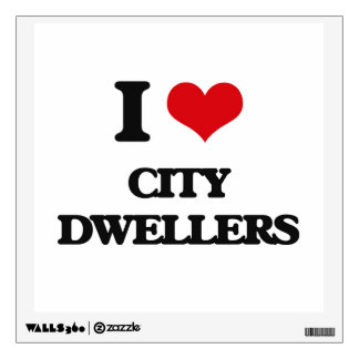 I Love City Dwellers Wall Graphics