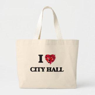 I love City Hall Jumbo Tote Bag