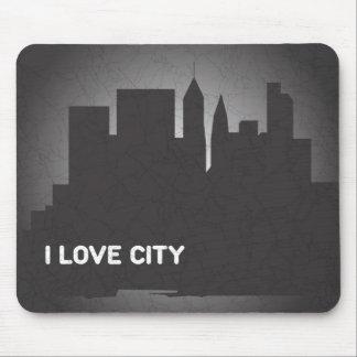 I Love City Mouse Pad