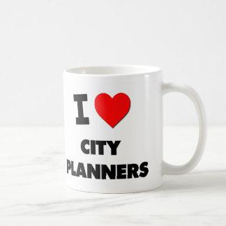 I Love City Planners Classic White Coffee Mug