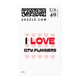 I LOVE CITY PLANNERS STAMPS