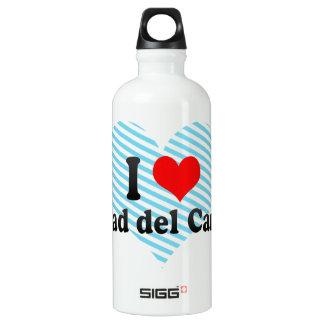 I Love Ciudad del Carmen, Mexico Aluminum Water Bottle