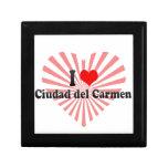 I Love Ciudad del Carmen, México Cajas De Regalo