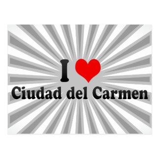 I Love Ciudad del Carmen, Mexico Postcard