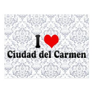 I Love Ciudad del Carmen Mexico Post Cards