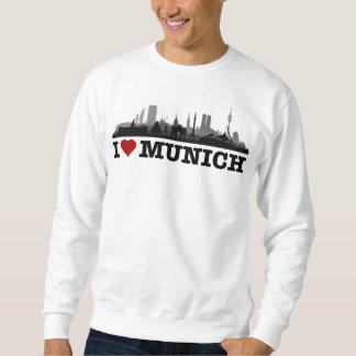 I Love ciudad Muniquesa horizonte - Shirt, jerséis Sudadera Con Capucha