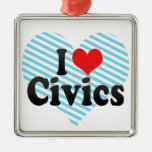 I Love Civics Christmas Ornament