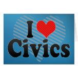 I Love Civics Greeting Card