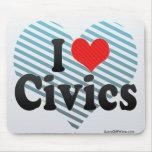 I Love Civics Mouse Pad