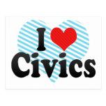 I Love Civics Postcard
