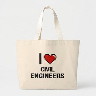 I love Civil Engineers Jumbo Tote Bag
