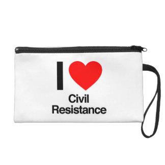 i love civil resistance wristlet clutches