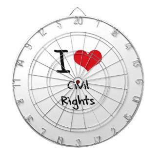 I love Civil Rights Dartboard