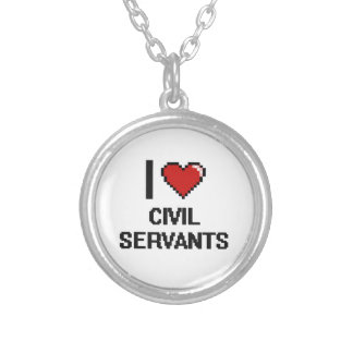 I love Civil Servants Round Pendant Necklace