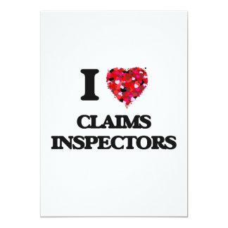 I love Claims Inspectors 5x7 Paper Invitation Card