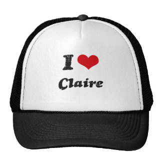 I Love Claire Trucker Hats