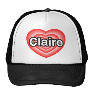I love Claire. I love you Claire. Heart Mesh Hat