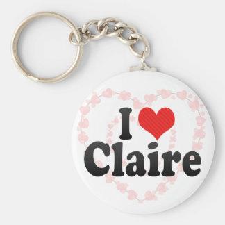 I Love Claire Key Chain
